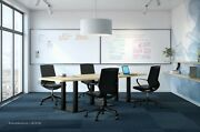10and039 Foot Conference Table Has Grommets And Black Metal Legs White Gray 8 Colors