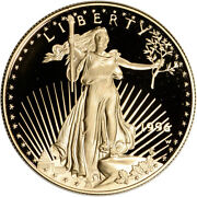1996-w American Gold Eagle Proof 1 Oz 50 - Coin In Capsule