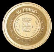 2006 Gold Netherlands 10 Euros Dutch Financial Office 200 Year Proof Coin