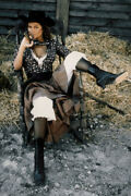 Claudia Cardinale Frenchie King Sexy Busty With Gun Seated 24x36 Poster