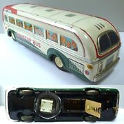 Nonstop Bus Made By Masudaya Tin Toys / Vehicle Toys 1960s Using Dry Cell W/box