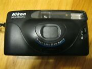 Vintage Nikon Nice Touch 2 35mm Camera Used Untested Scratches Instructions