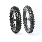 15mm Axle Front 70/100-17 Tire Wheel Rim And Rear 90/100-14 For Cr85 Yz85 Rfz125