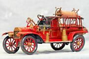 Antique Vintage 1914s Ford Fire Engine Truck Rare A 1 T Metal Model Van Used