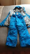 Quiksilver 10 Years Boys Girls Ski Suit Jacket And Bottoms Salopettes Blue