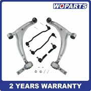 6pc Front Control Arm Sway Tie Rod Ball Joint Kit Fit For Nissan Altima Maxima