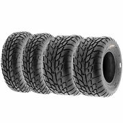 Set Of 4 19x7-8 And 225/45-10 Replacement Atv Utv 6 Ply Tires A021 By Sunf