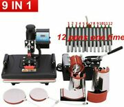 Combo Heat Press Machines Sublimation Printers 2d Transfer 9 In 1 Business Tools