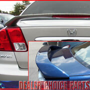 2001 2002 2003 2004 2005 Honda Civic 4dr Oe Style Trunk Spoiler Wing Unpainted