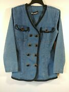 Vintage Tickets/california Double Breasted Denim Jacket 1717