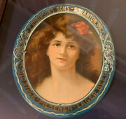 Antique Vtg E. Robinsonandrsquos Sons Scranton Pa Lager Beer Tray Oval Extremely Rare