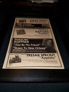 Prefab Sprout/molly Hatchet/clash/cheap Trick Rare Radio Promo Poster Ad Framed