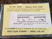 Herald King Ho Decals Western Maryland B-270 Box Car Decals Sealed
