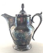Antique Rogers Smith And Co Silver Pitcher New Haven Connwm S Mathews Patent 1859