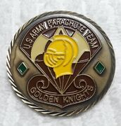 Authentic Golden Knights Us Army Parachute Team Rare Challenge Coin