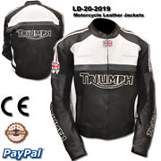 Triumph Motorcycle Leather Racing Jacket Ld-20-2019 Us 38-48