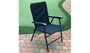 Prime Elite Deck Chair Foldable Midnight Blue Polyester Fabric Boat Rv Camper