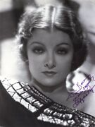 Myrna Loy - Inscribed Book Photograph Signed
