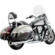 25313 - Vance And Hines - Pro Pipe Chrome Exhaust System Vn1700 Tourer/voyag 09-15
