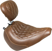 Mustang Tripper Brown Motorcycle Solo Seat And Backrest 18-19 Harley Breakout Fxbr