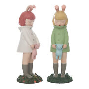 Dream Of Fairy Tale Bunny Girl After The Rain Art Designer Toy Figurine Display
