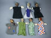 Vintage Hand Painted Punch And Judy Puppet Glove Antique Victorien Theatre 2 ☆☆☆