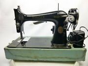 Vintage Singer Sewing Machine With Power Cord And Foot Pedal - As-is