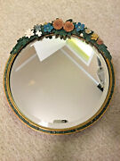 Lovely 1930and039s English Barbola Round Mirror