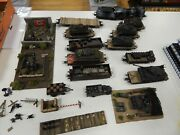 1/87 Scale German Railway 10 Flat Cars 1 Engine And Some Odds And Ends