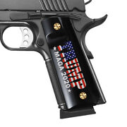 Cool Hand 1911 Full Size Acrylic Grips With Usa Flag Trump Maga 2020 Screws Free
