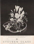 1957 Scroll Plate With Upswept Side Steuben Glass Ad