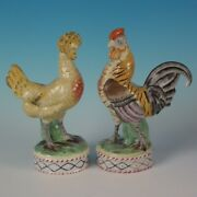 Pair Staffordshire Hen And Cockerel/rooster Figures