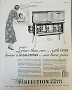 Vintage 1933 Perfection Oil Burning Stove Ad