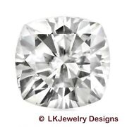 4.20 Ct Cushion Moissanite Forever One - Ghi - 9.5 Mm From Charles And Colvard