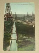 Vintage Unused Postcard Early 1900and039s Oil Fields Near Bakersfield Cal. Penny Pc