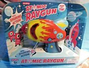 Schylling Atomic Ray Gun Tin Toy Friction Powered Space Sparking Action Red 5+