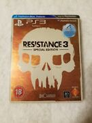 Resistance 3 Steelbook Playstation 3 Ps3 Sold Out Limited Edition Rare