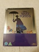 Mary Poppins Steelbook Blu Ray Uk Disney Embossed Sold Out Sealed