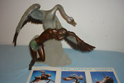 Vintage Beneath The Wings Bronze On Acrylic Stand 1988 Signed Misha Frid