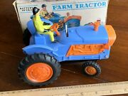 Vintage Marx Toys Hong Kong Battery Operated Farm Tractor