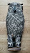 Owl Decoy Attributed To The Hoosier Call And Decoy Company, Delphi, Indiana.