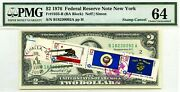 2 Dollars 1976 Stamp Cancel State New York Lucky Money Value 3000