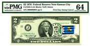 2 Dollars 1976 First Day Stamp Cancel State Flag From Montana Value 3000