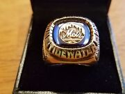 1983 New York Mets Tidewater Tides Championship Ring Governorand039s Cup 1986