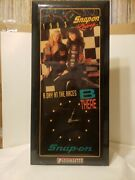 Vtg 1993 Snap-on Day At The Races Wall Clock Free Ship Models Mancave Beer Auto