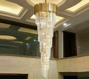 Luxury Modern Chandeliers Lighting For Staircase Hallway Crystal Light Fixtures