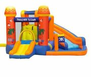 Inflatable Slide Bounce House Water Park Pirates Islands Kids Playing Area Tools