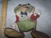 Rempel Mfg 1948 Ed Mcconnell Akron Ohio Large Vintage Rubber Squeeze Toy Frog 10