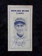 Vintage 1938 Newark Bears Player Roster And Training Schedule Johnny Neun Auto 648