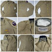Vtg. Ww2 Military Brooks Army Air Corp Jacket Model 750 Size 38 Long With Pins